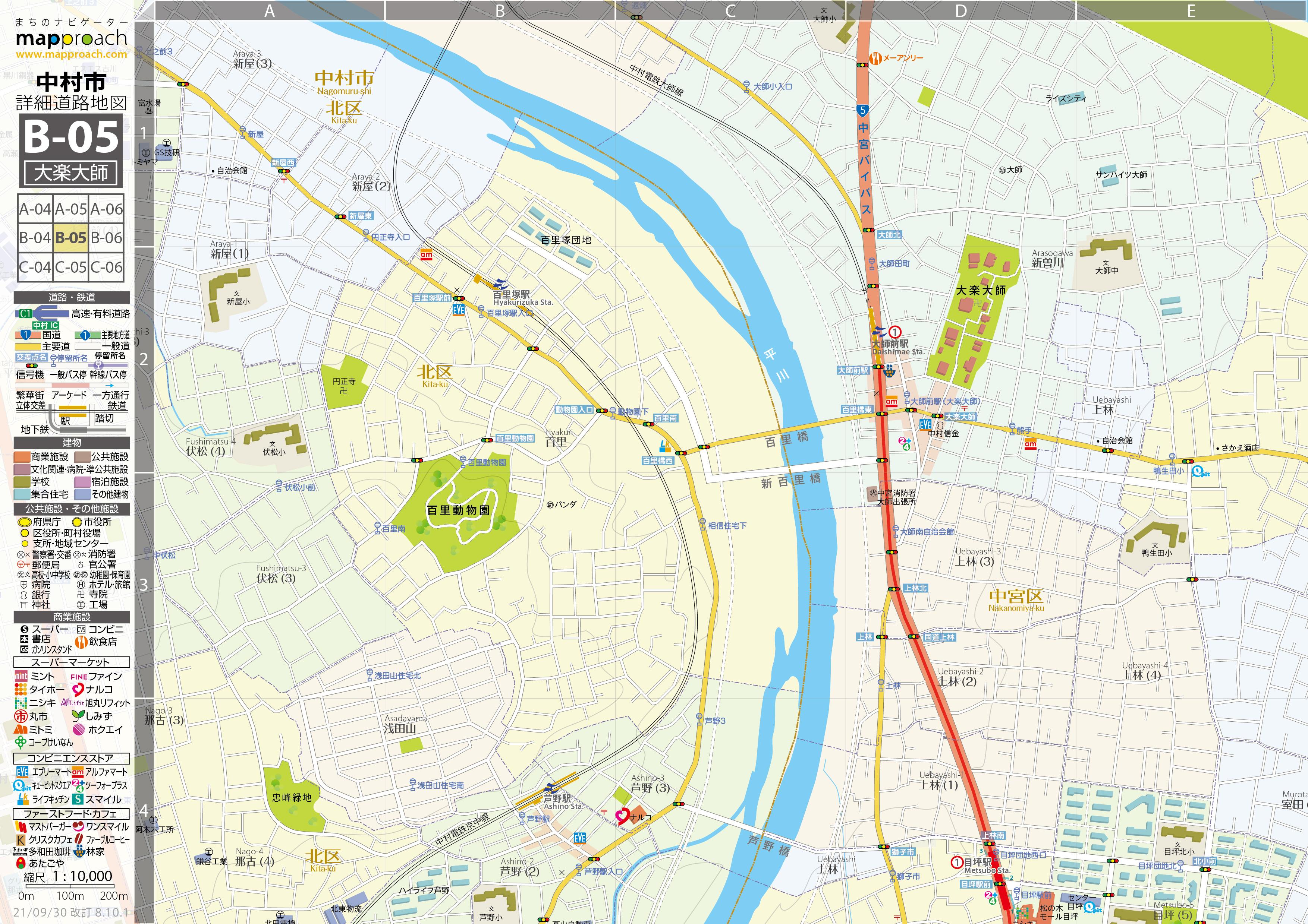 B-05 大楽大師 地図拡大