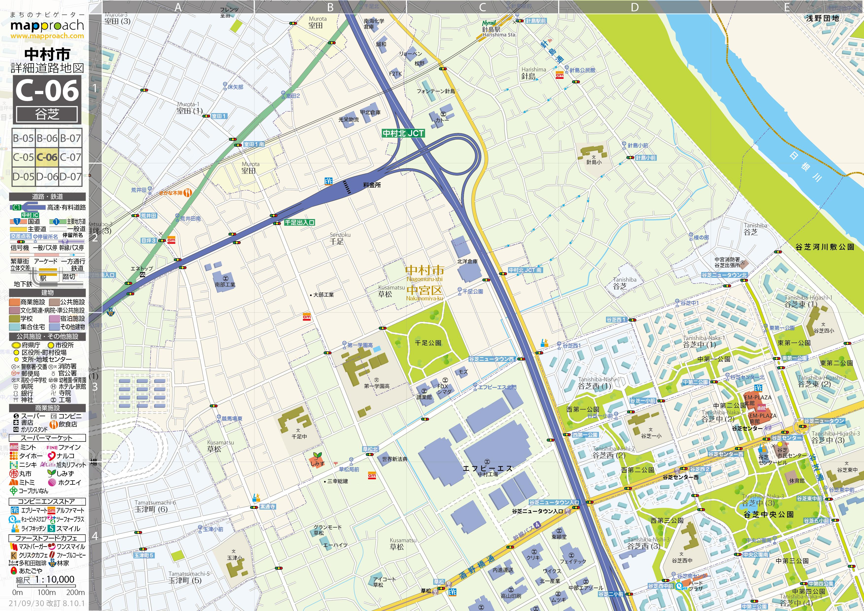 C-06 谷芝 地図拡大